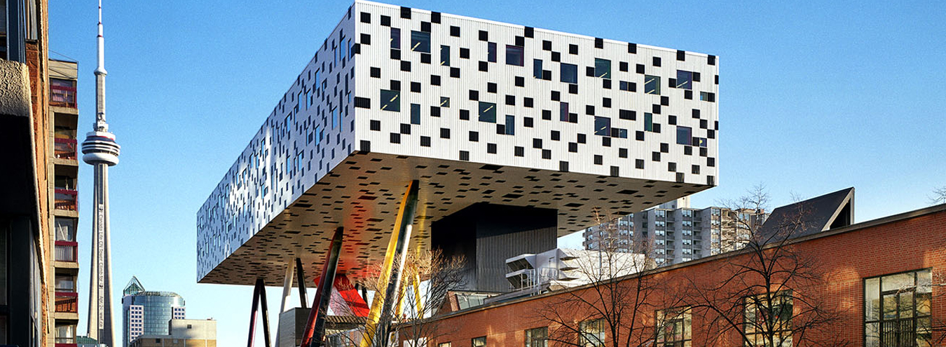 Photo of OCAD University Sharp Center for Design from McCaul Street