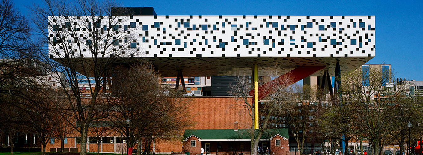 Photo of OCAD University Sharp Center for Design from Grange Park